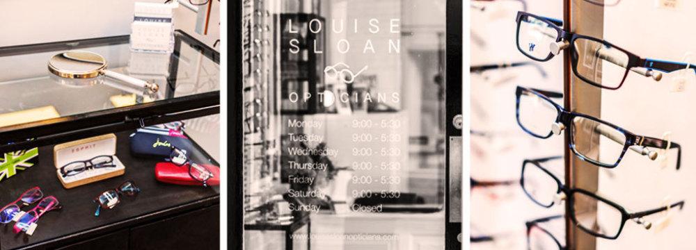 Designer frames at Louise Sloan Opticians, Horsham, West Sussex
