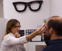 Adult eye examination at Louise Sloan Opticians, Horsham