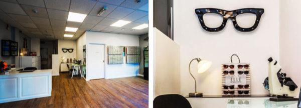 Louise Sloan Opticians shop interior in Horsham, West Sussex